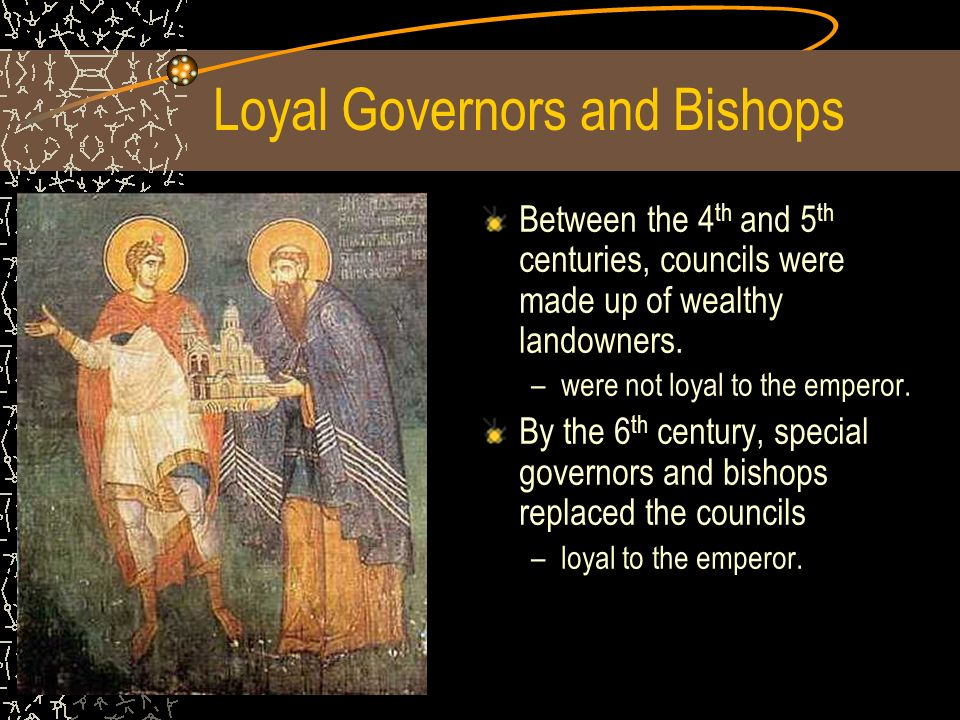 Loyal Governors and Bishops