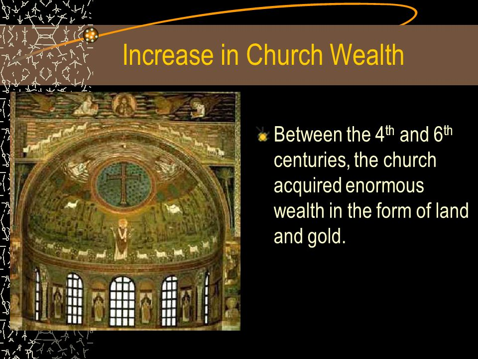 Increase in Church Wealth