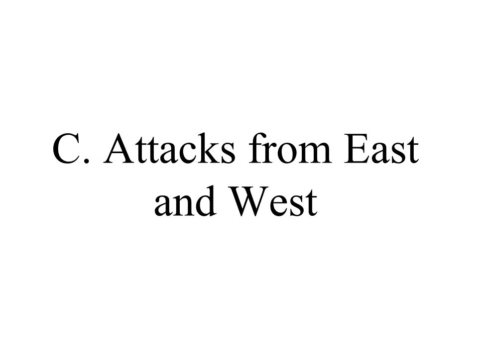 C. Attacks from East and West