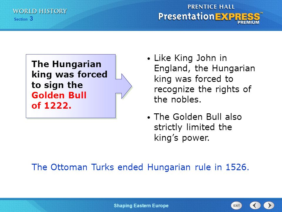 The Ottoman Turks ended Hungarian rule in 1526.