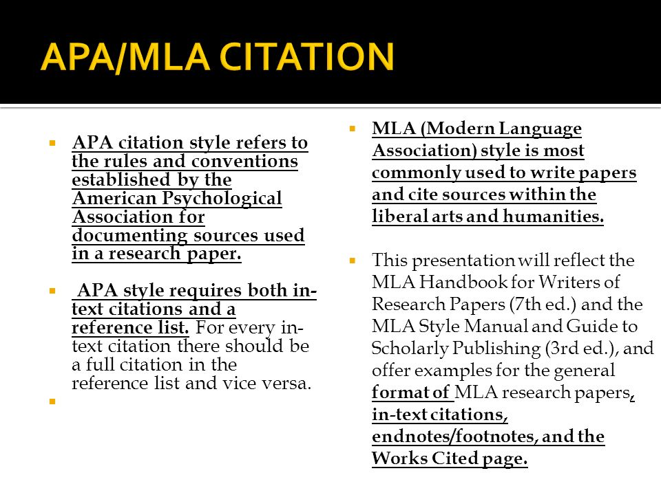 when to use mla or apa