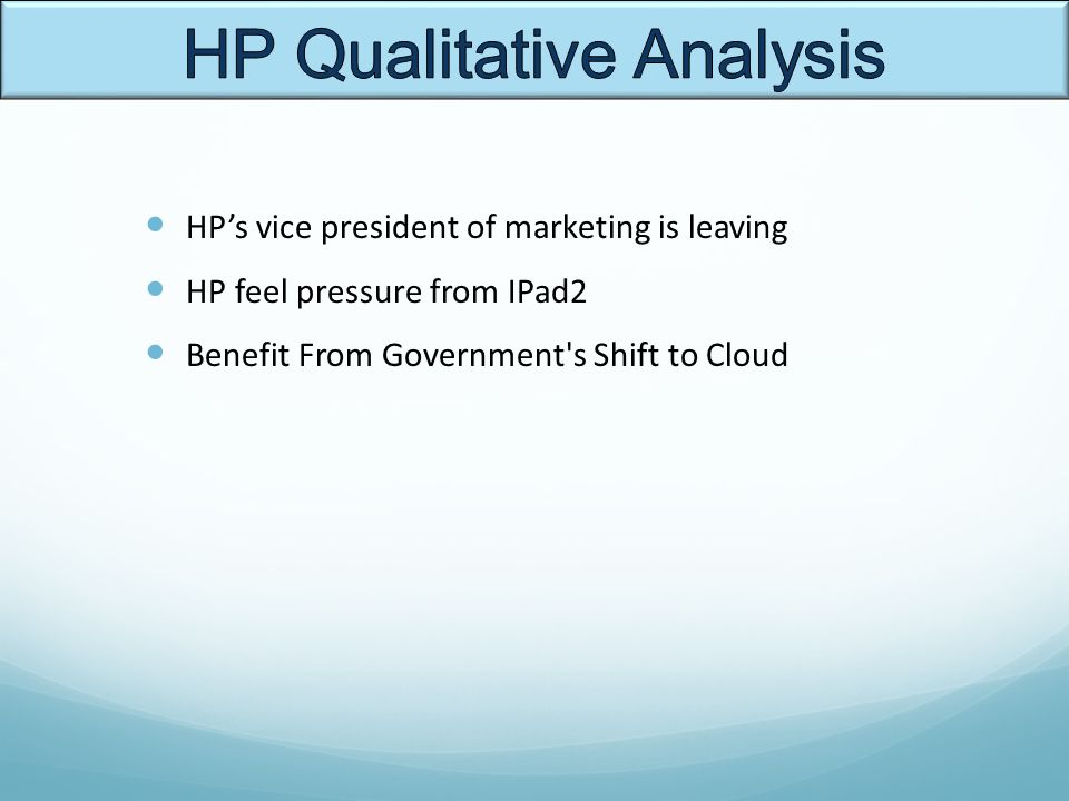 hp marketing analysis Hp explore power the decisions with market-leading multichannel analytics hp  optimost provides web engagement with data-driven multichannel optimization.