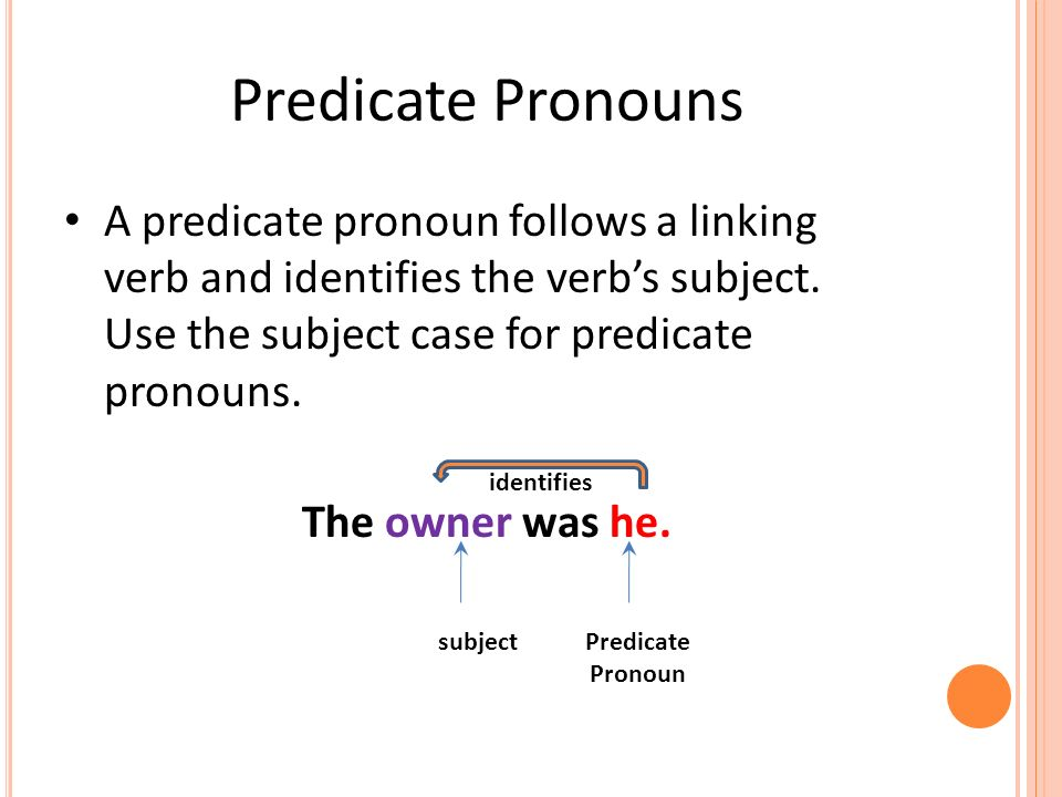 What is a Pronoun? Subject Pronouns Object Pronouns - ppt ...