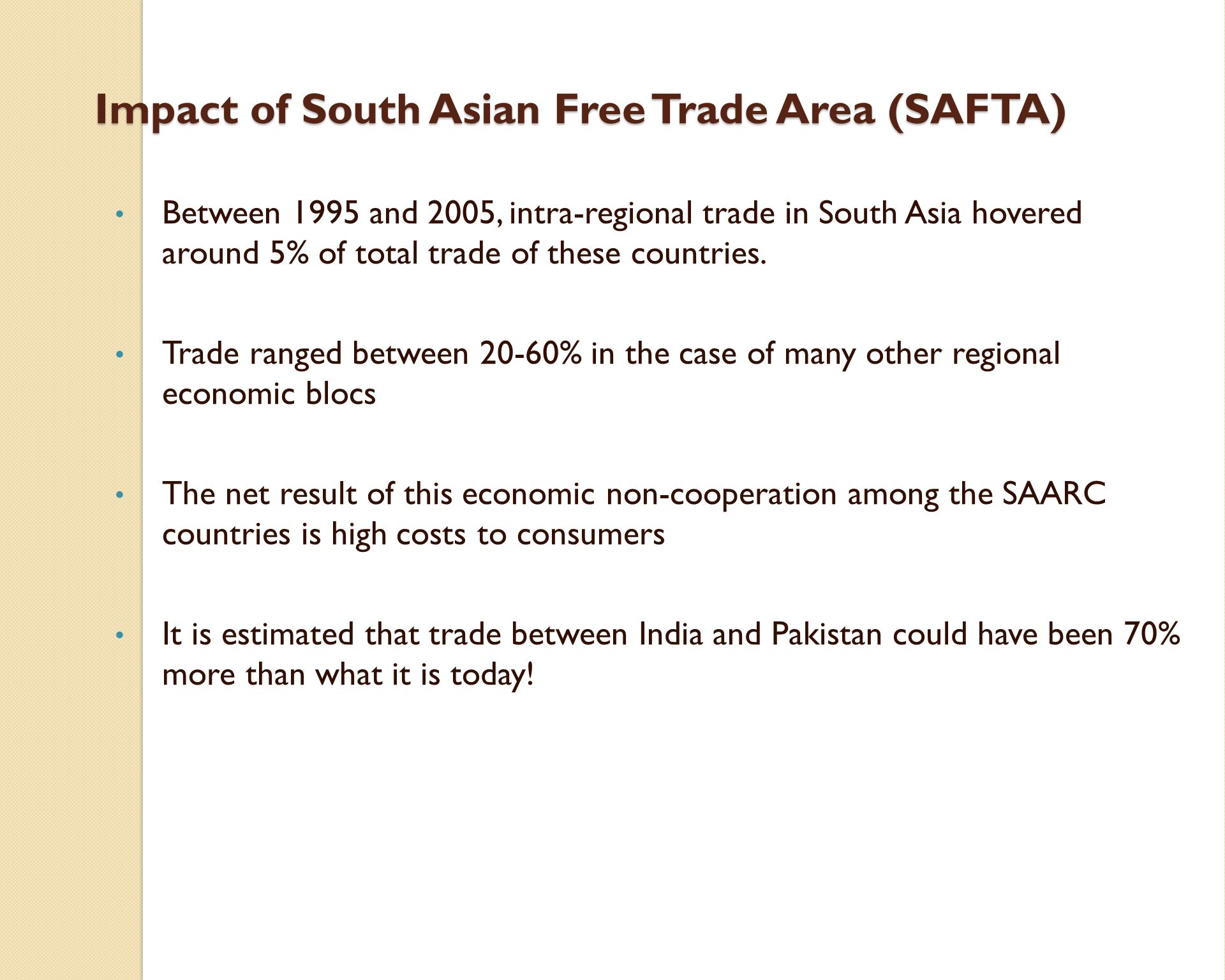 Impact of Free Trade Agreements on India