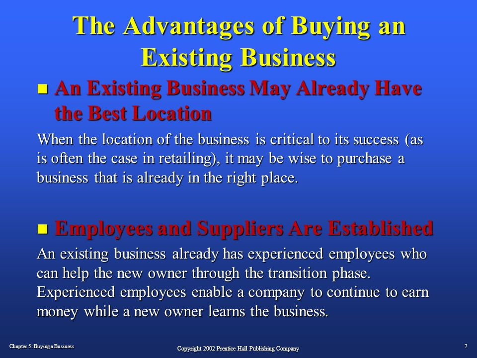 Buying an Existing Business – 7 Steps to Success