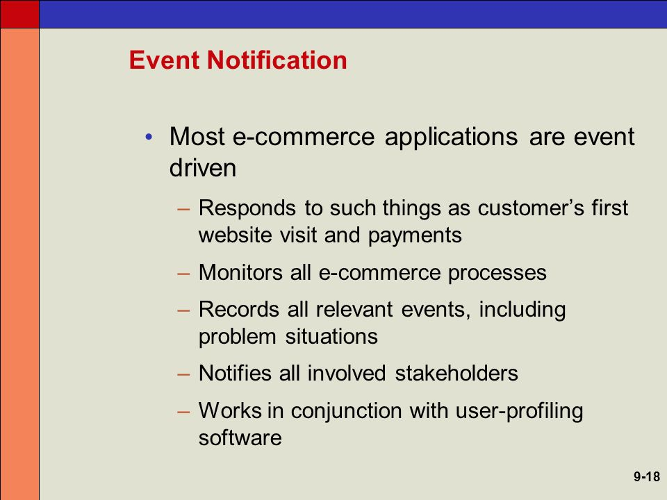 Most e-commerce applications are event driven