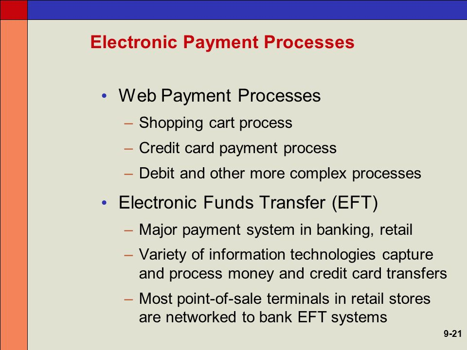Electronic Payment Processes