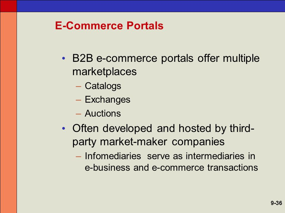 B2B e-commerce portals offer multiple marketplaces