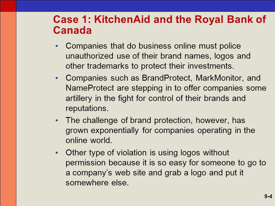 Case 1: KitchenAid and the Royal Bank of Canada