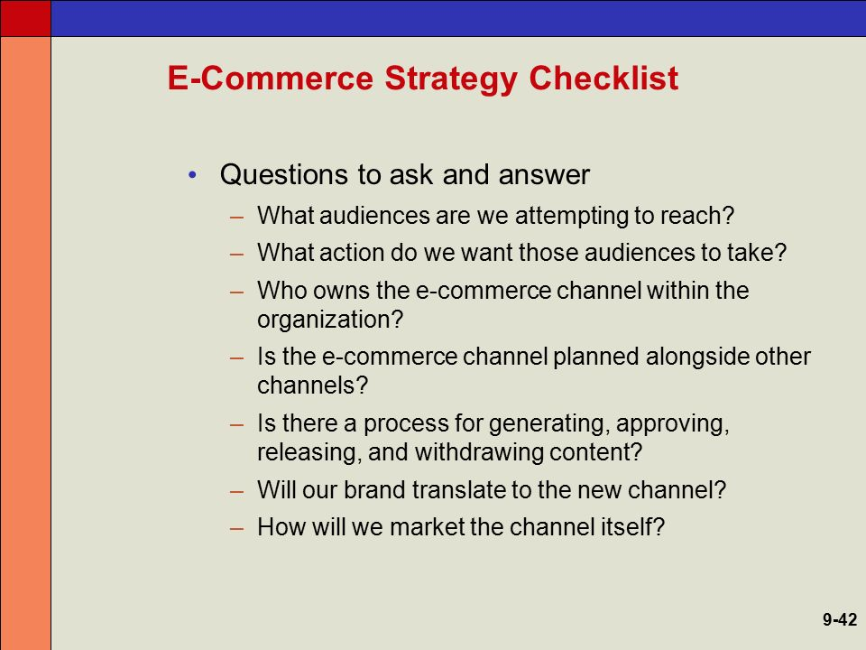 E-Commerce Strategy Checklist