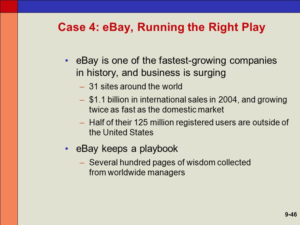 Case 4: eBay, Running the Right Play