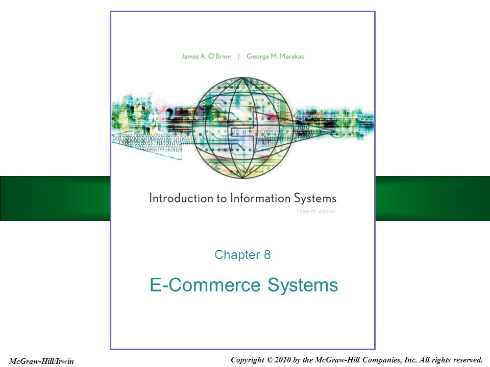 E-Commerce Systems Chapter 8