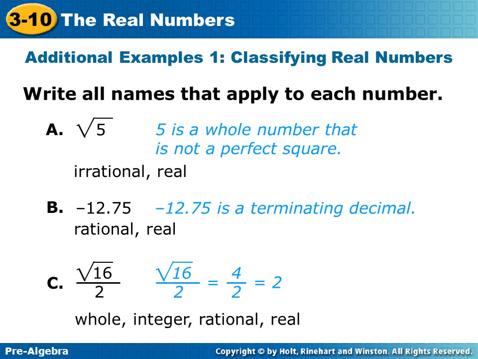 real numbers examples and answers pdf