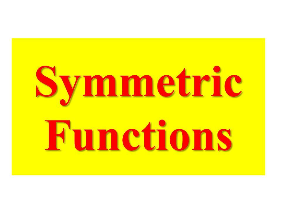 Symmetric Functions