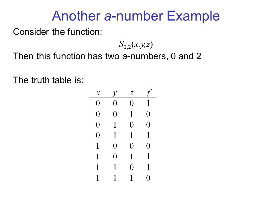 Another a-number Example