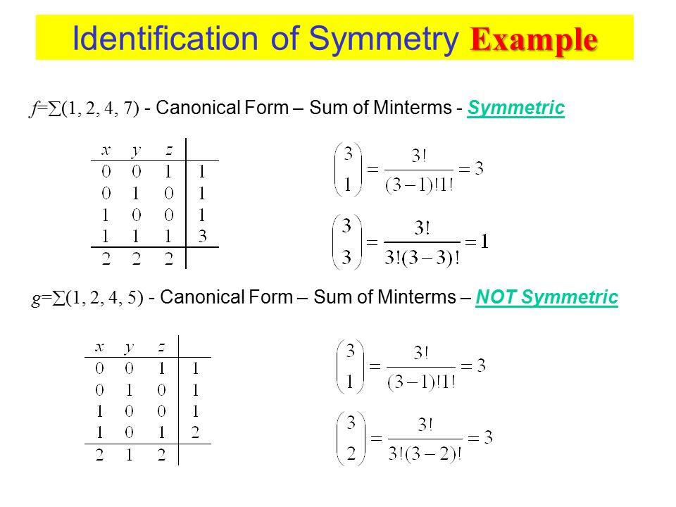 Identification of Symmetry Example