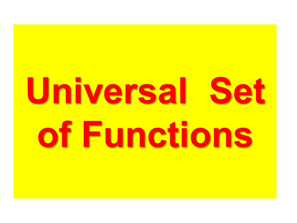 Universal Set of Functions