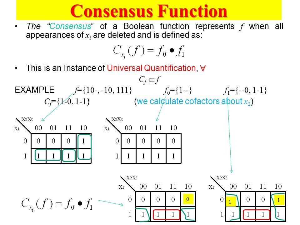 Cf={1-0, 1-1} (we calculate cofactors about x2)