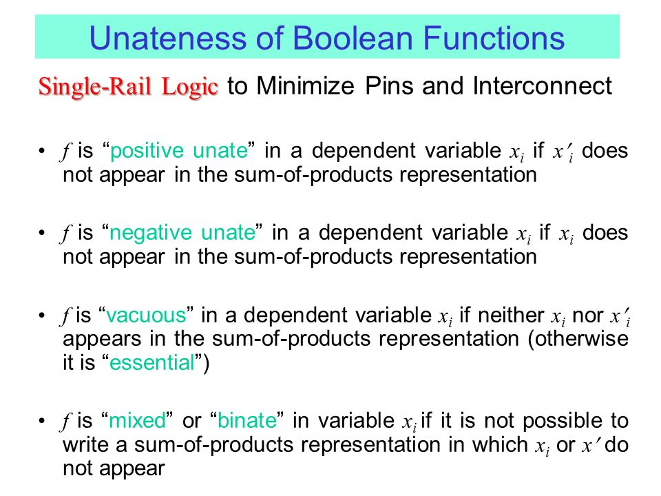 Unateness of Boolean Functions