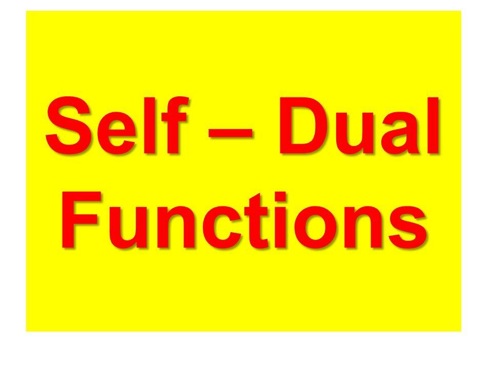 Self – Dual Functions