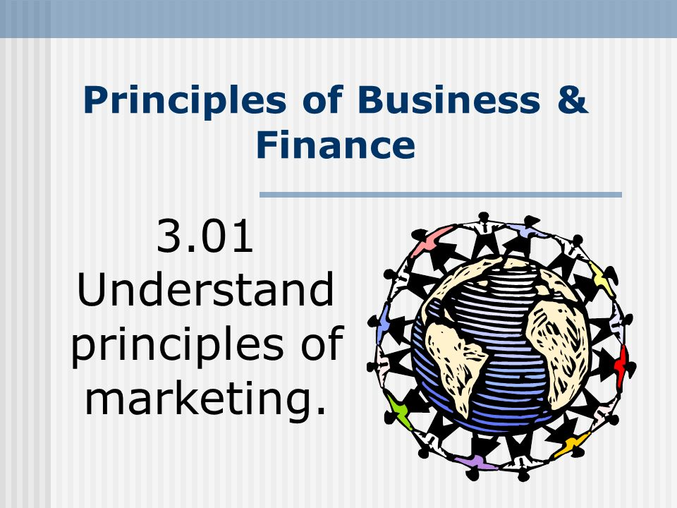 principles of marketing in financial industry