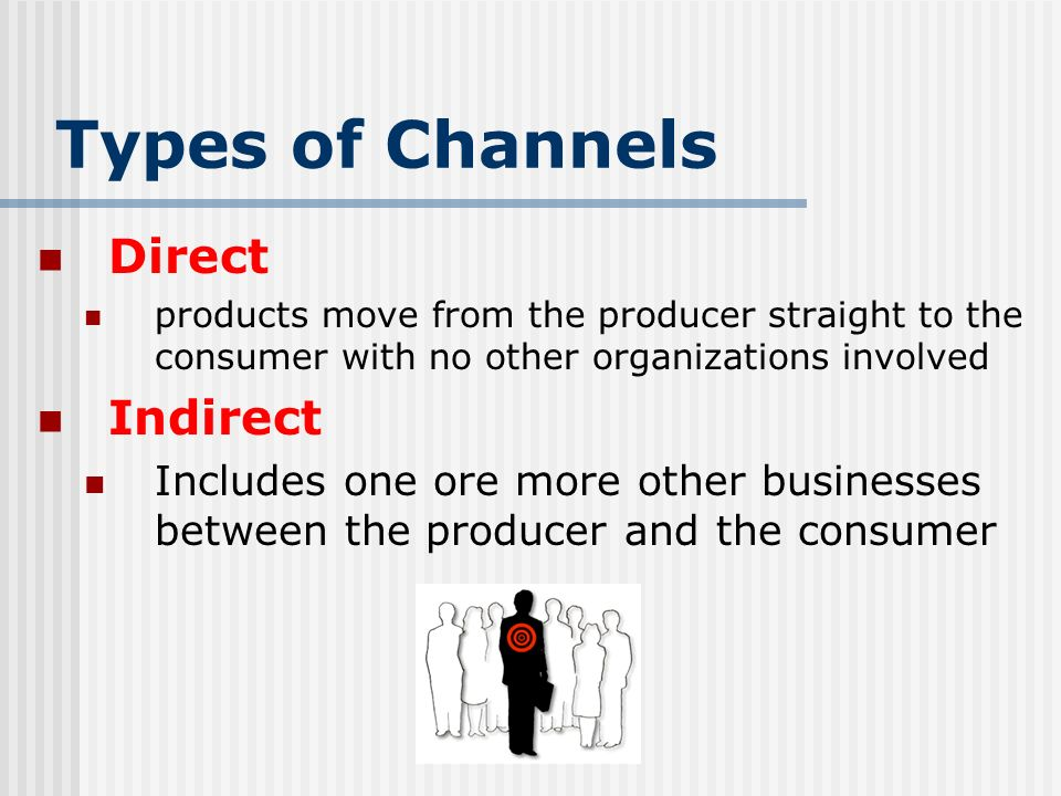 Types of Channels Direct Indirect