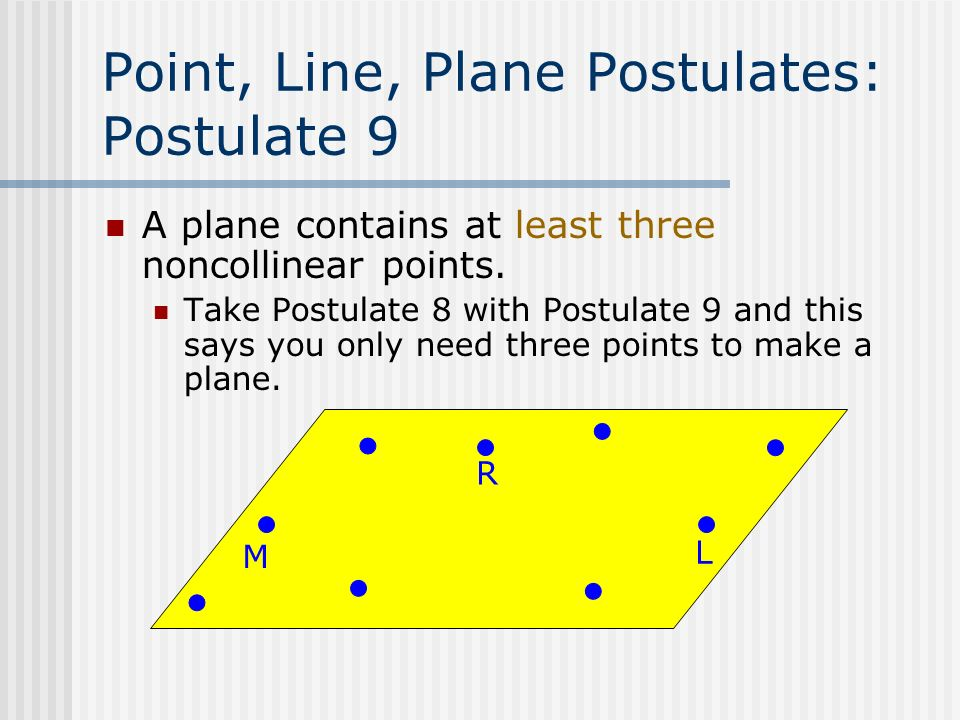Three Point Plane : Chapter reasoning and proof ppt video online download