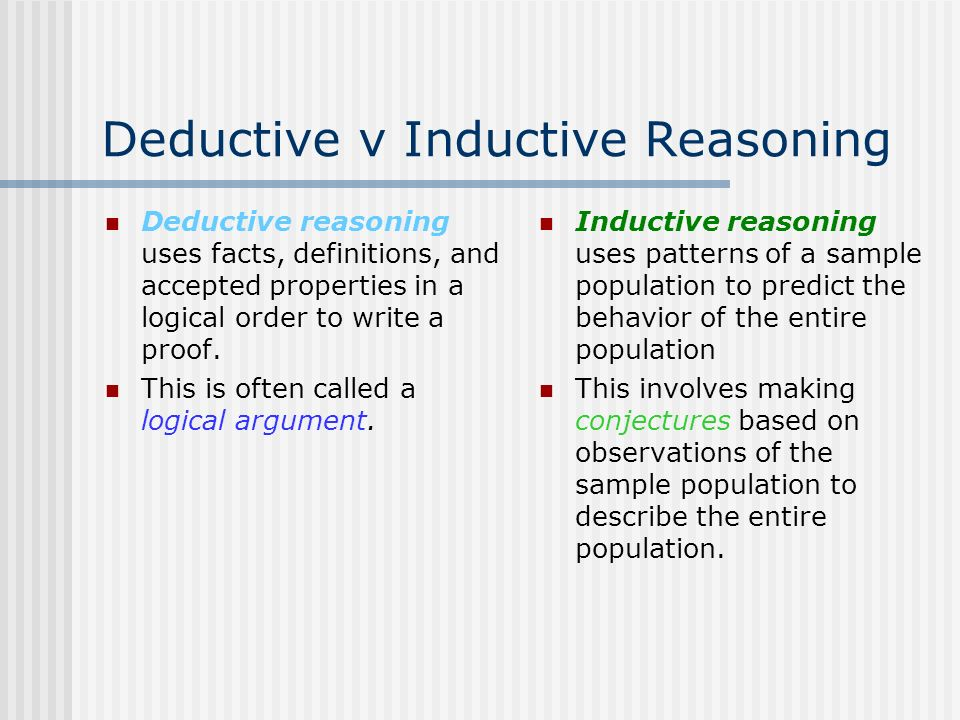 Deductive vs Inductive - Difference and Comparison | Diffen