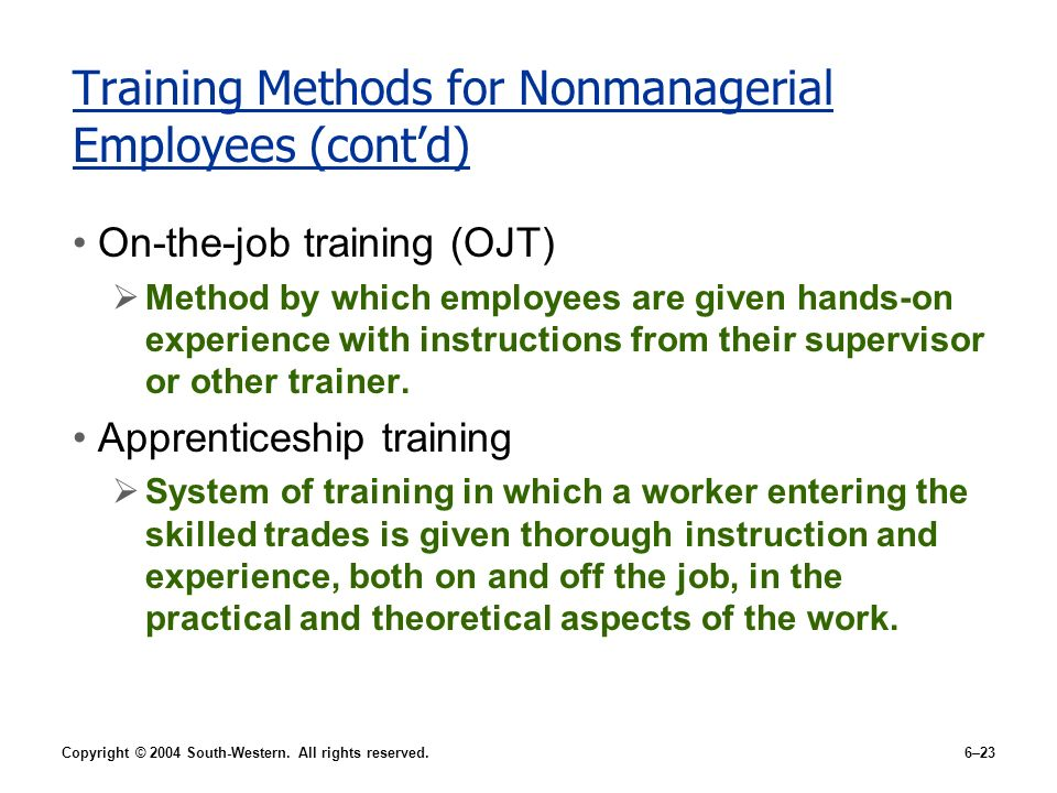 Effects of Training on Employee Performance