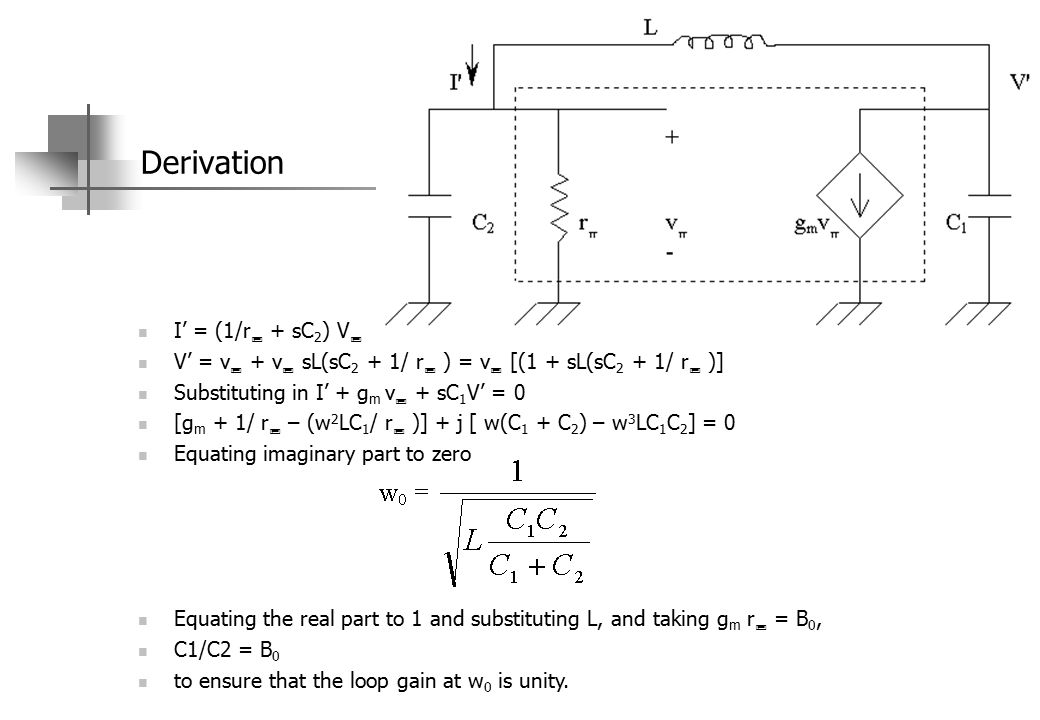 rc phase shift oscillator frequency derivation pdf