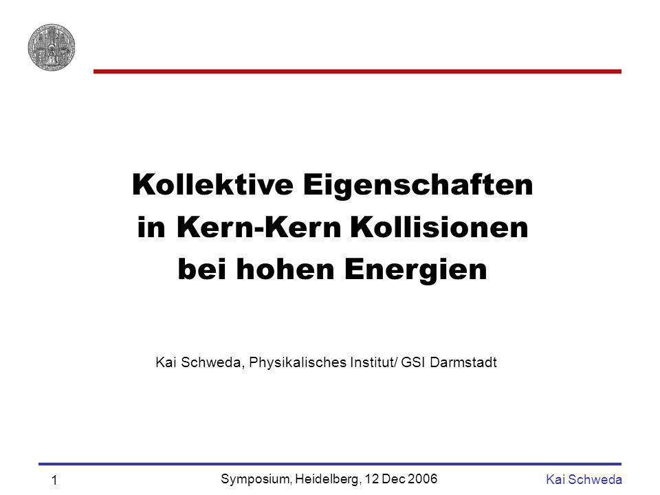 Kollektive Eigenschaften in Kern-Kern Kollisionen bei hohen Energien