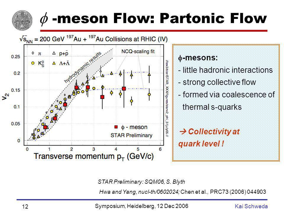  -meson Flow: Partonic Flow