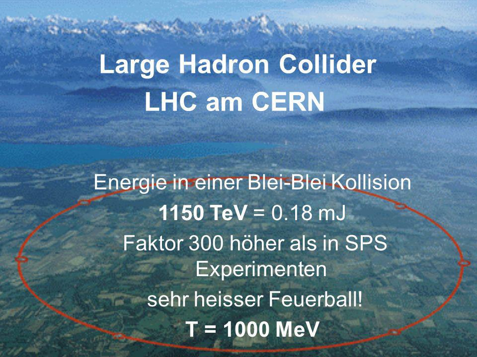 Large Hadron Collider LHC am CERN Energie in einer Blei-Blei Kollision