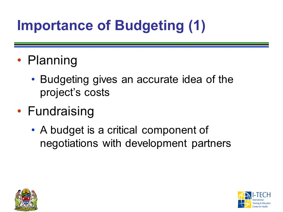budgeting importance A budget is a plan that helps you prioritize your spending with a budget, you can move focus your money on the things that are most important to you.