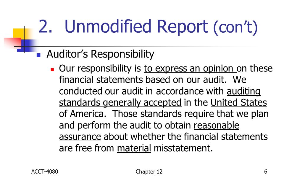 Financial auditing in firms in united states