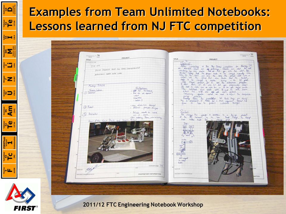 The FTC Engineering Notebook - ppt video online download