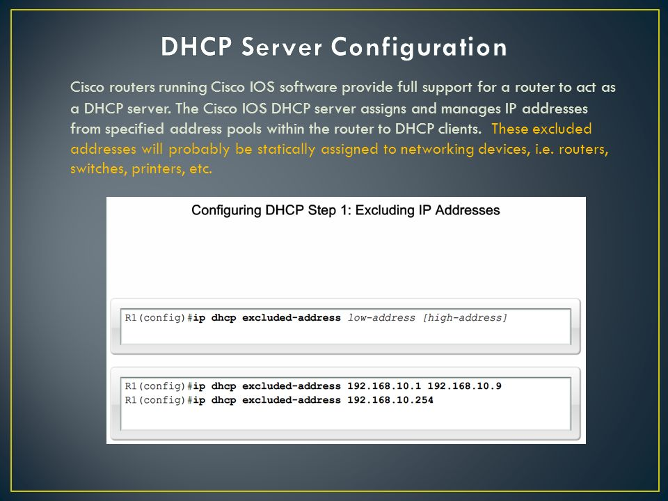 Implementing ip addressing services ppt download for Show dhcp pool cisco switch