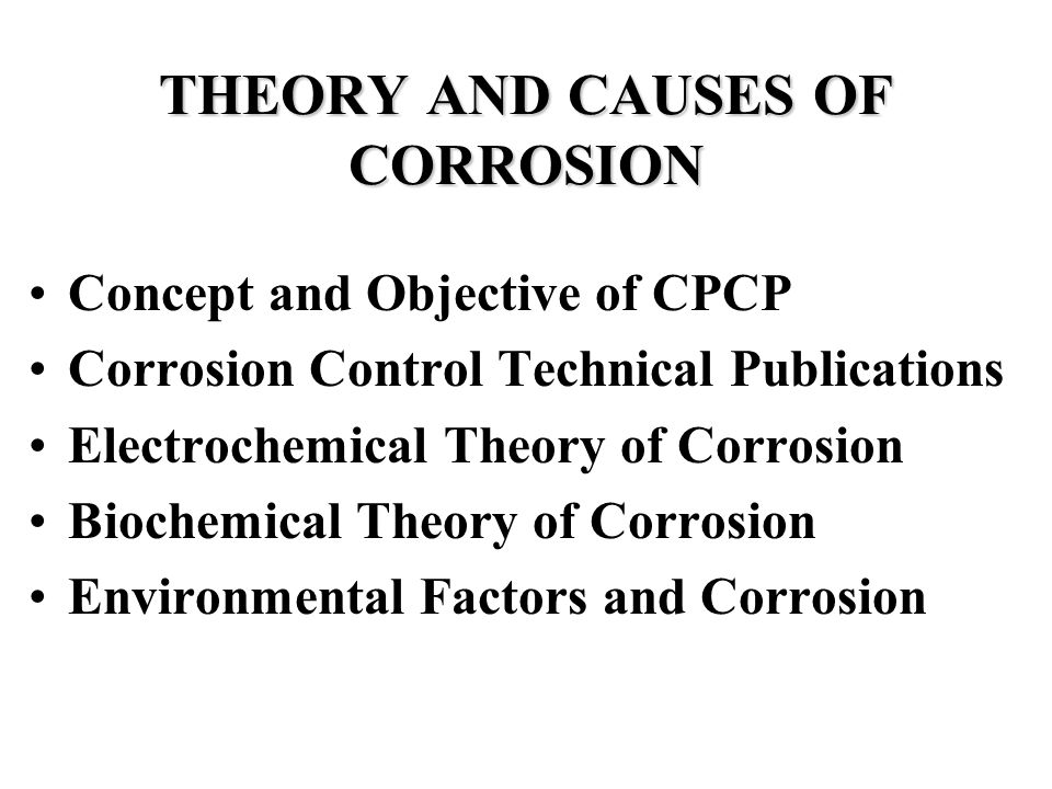 you are about to take the corrosion control training slide
