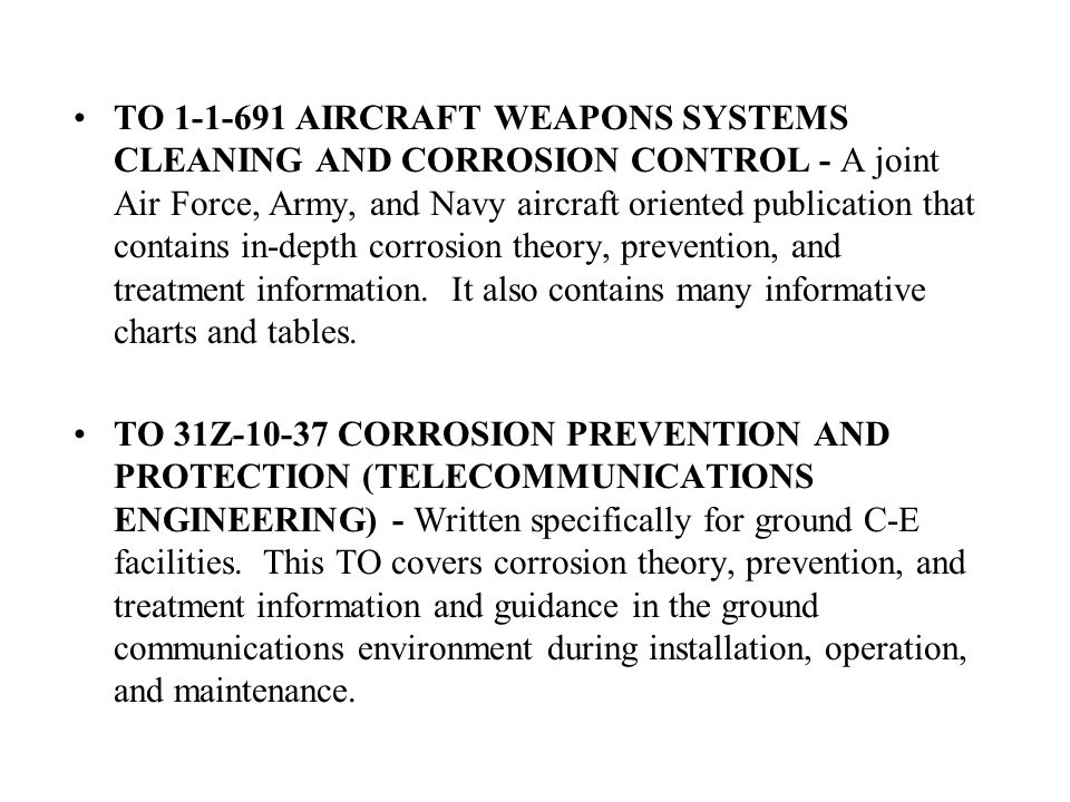 You are about to take the Corrosion Control Training slide ...