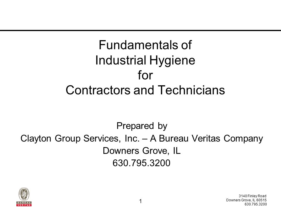 fundamentals of industrial hygiene for contractors and technicians ppt download. Black Bedroom Furniture Sets. Home Design Ideas