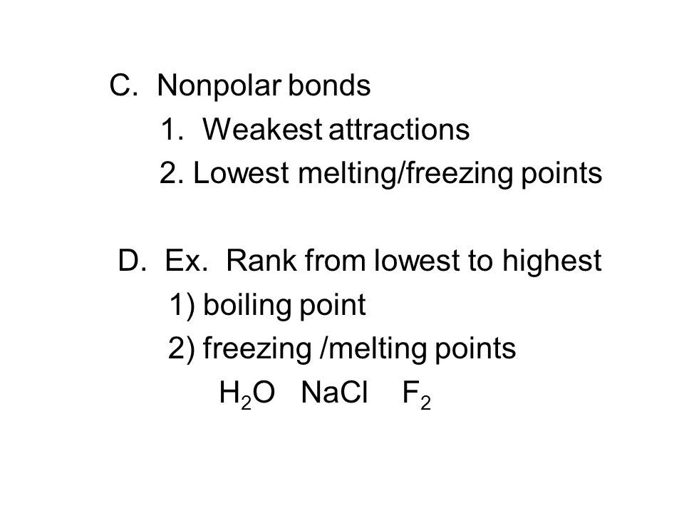 melting point and freezing relationship quiz