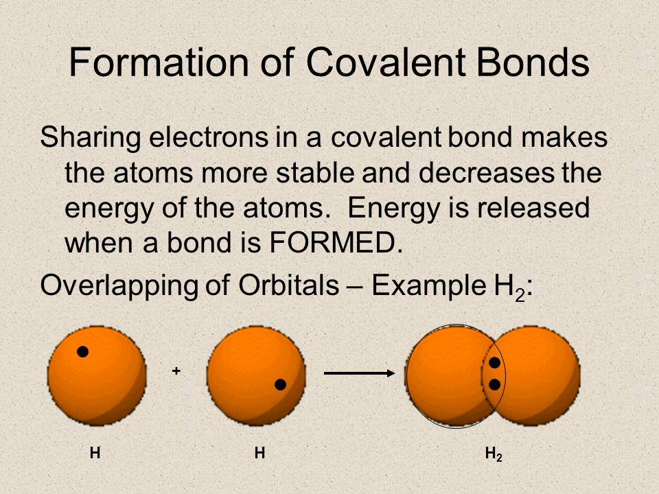 formation of covalent bonds Learn about covalent bonds, how covalent compounds are formed and the properties inherent to covalent compounds, such as low melting and boiling.