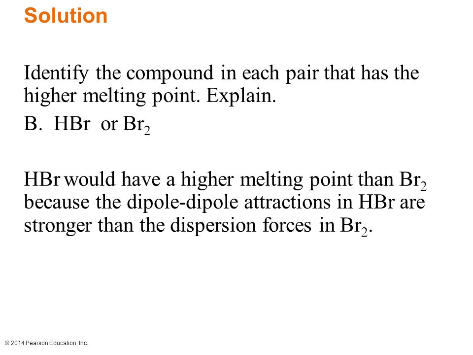 how to tell which compound has a higher boiling point