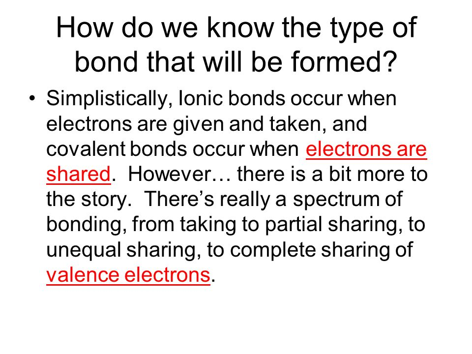 Covalent Bonds – The nice bonds that share! - ppt video online ...
