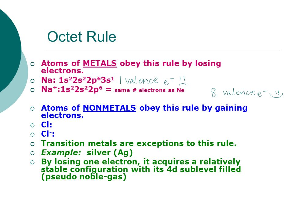 Octet Rule Example