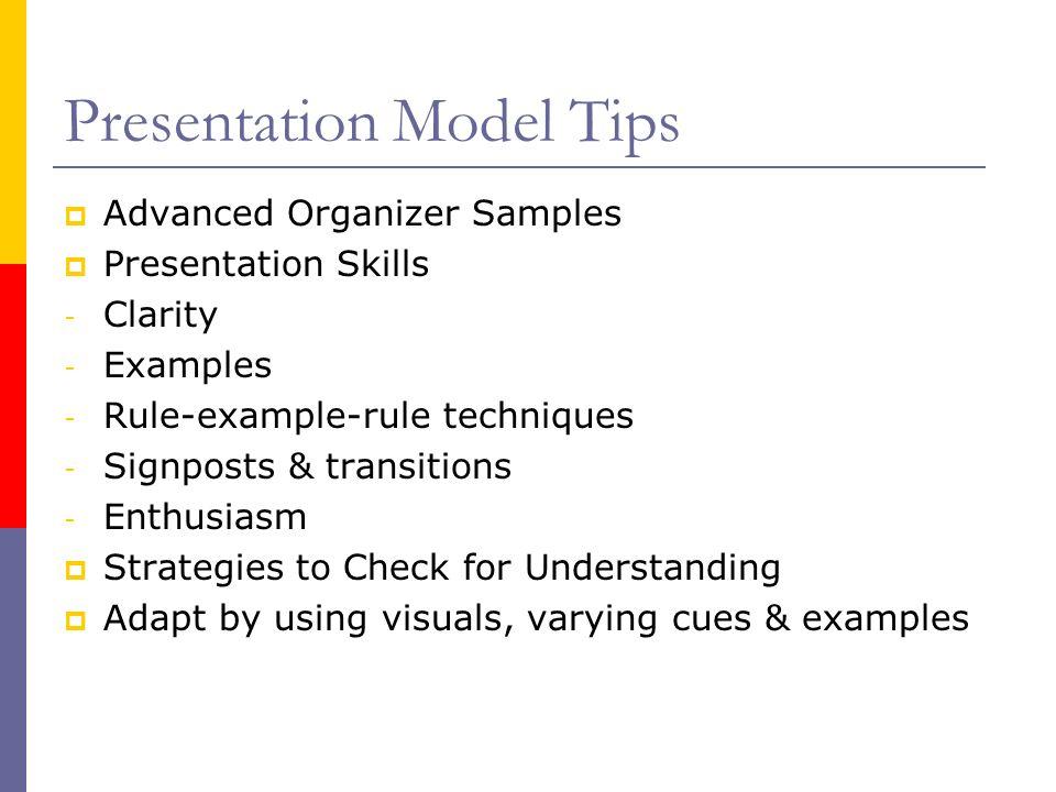 advance organizer model of teaching pdf