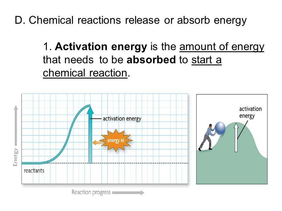 D. Chemical reactions release or absorb energy