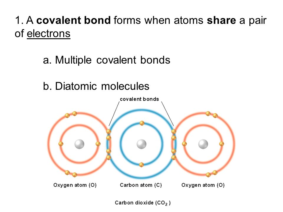1. A covalent bond forms when atoms share a pair of electrons