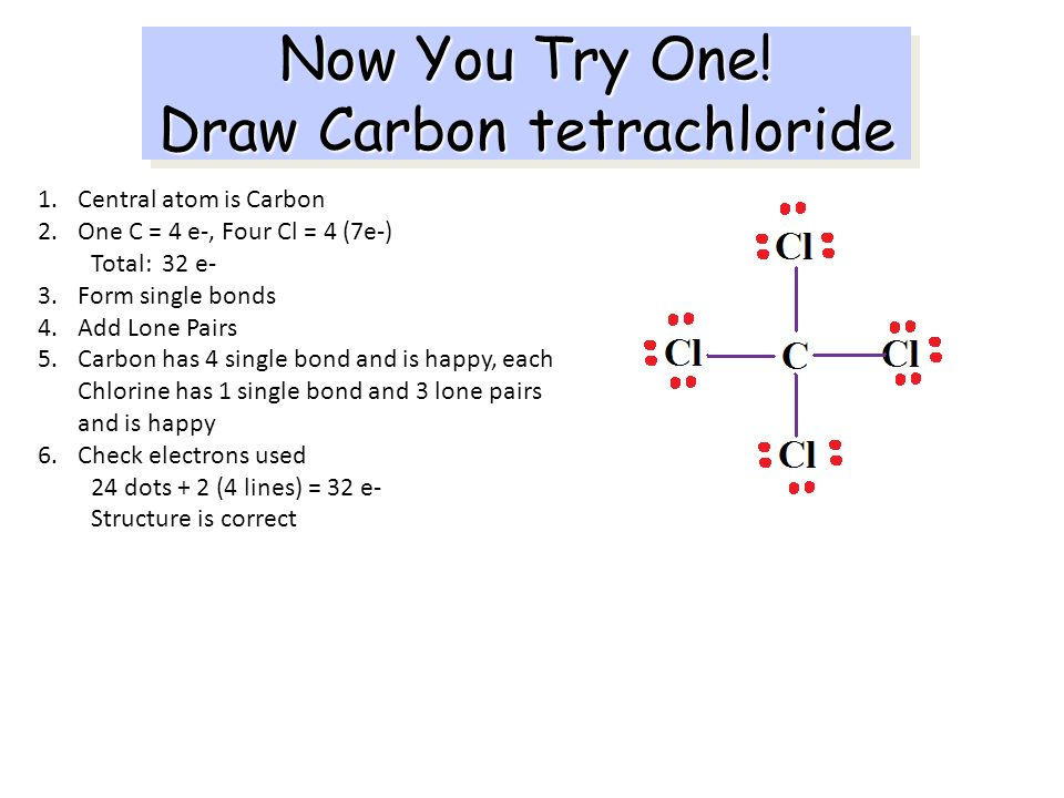 Now You Try One! Draw Carbon tetrachloride