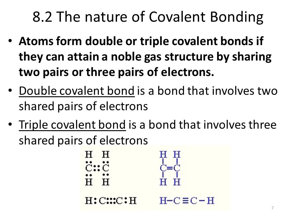 8.2 The nature of Covalent Bonding